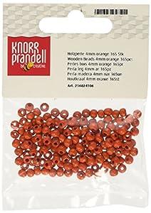 Gütermann / KnorrPrandell 6024106 - De Madera de 4 mm Bola Anaranjada de la Perla, 165 Piezas / Bolsa Importado de Alemania