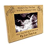 ukgiftstoreonline For Mum To Be Wooden Baby Scan Photo Frame