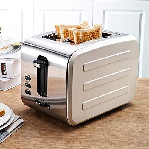 Rostfreier Stahl 2 Slice Toaster, 900W Glatt gebürstet Toaster mit Stornieren Aufwärmen Auftauen...