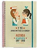 M. Rius (Écrivain) phrases–Agenda scolaire 2017/2018avec caoutchouc, vue de semaine, 21x 15cm