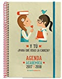 m. Rius frasi–Agenda scuola 2017/2018con gomma, week View, 21x 15cm