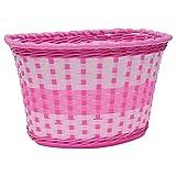 Oxford Girl's Woven Bike Basket - Pink