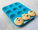 My Little Bakery Silikon Muffin Form/Cupcake Form/Anti-Haftbeschichtet, Kein Einfetten Oder Papier notwendig/Brownie, Pudding, Cupcakes, Kuchen, Eis/-Würfel