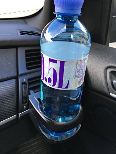 2 Stück Stabile Getränkehalter Flaschenhalter für Auto PKW KFZ LKW - Einfache Montage an Lüftungsauslässe - Verstauen & Ordnung - Mehr Platz für Getränke