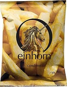 einhorn Kondome - 7 Stück - Wochenration - Design Edition: FOODPORN - Vegan, Hormonfrei, Feucht, Geprüft
