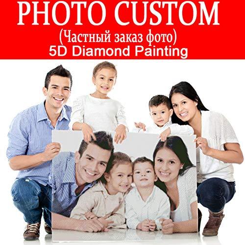 Foto benutzerdefinierte! DIY Diamant Stickerei 5D Diamant Malerei Kreuzstich 3D Quadrat und Runde Strass Mosaik Dekoration, 30x40 cm, volle Runde