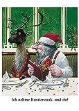 Postkarte A6 • 6016 ''Rentiersteak'' von Inkognito • Künstler: Gerhard Glück • Weihnachten