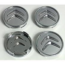 4 tapas de buje de 60 mm para llantas de aluminio para Citroën, con logotipo