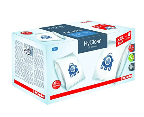 Miele 10408410 XXL-Pack Staubbeutel GN HyClean 3D, 16 + 8 filter -