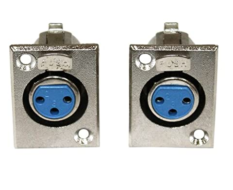 Aerzetix - Set of 2 3-pins XLR female panels for microphone mounting .