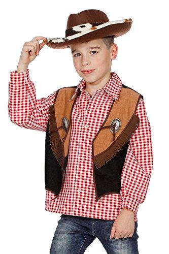este zum Kostüm Braun Fransen Wilder Westen Karneval 116-164 (Django Kostüm)
