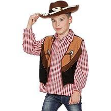 6cbc26f4fa26e2 Cowboyweste Cowboy Weste zum Kostüm Braun Fransen Wilder Westen Karneval  116-164