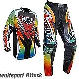 Bambini tuta motocross - WULFSPORT ATTACK Bambini Maglia e pantaloni Moto cross ATV Quad Off road...