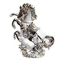 Italian Style Gold/Silver Horse Fole Romany Gypsy China Ornament Ceramic Center