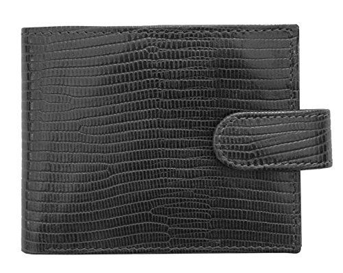 Prime Hide ,  Herren-Geldbörse, schwarz (schwarz) - 6614-Black - Croc Embossed Wallet