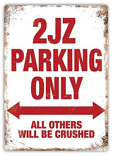 Wise Degree 2JZ Parking Only Drift Bar Poster Club Wand Küche Kunst Cafe Garage Büro Shop Pub Dekoration