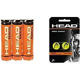 HEAD 3X4B Radical, Palline Tennis Unisex Adulto, Giallo, Taglia unica