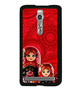 Beautiful Russian Dolls 2D Hard Polycarbonate Designer Back Case Cover for Asus Zenfone 2 ZE551ML