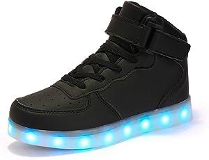 Dannto Kinder Leuchtende Blinkschuhe Turnschuhe Farbe USB Aufladen LED Licht Kinderschuhe Sportschuhe Hoch Oben Lässige Mode Sneakers für Jungen Mädchen