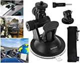 Suction Cup for GoPro, Puluz® - Window Mount, 2 Stage Pivot with Tripod Mount & Thumbscrew for HERO Cameras