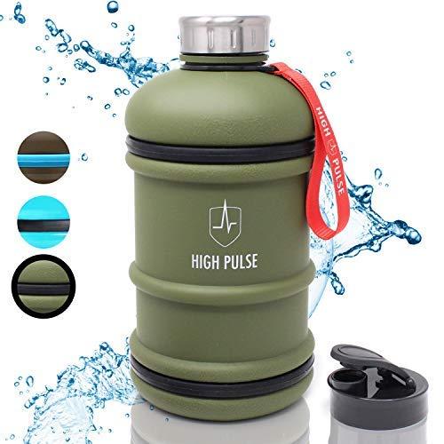 Borraccia sportiva XXL con attacco per bere (2 L) - la borraccia sport a prova di perdite è ideale per il tuo allenamento - 100 % senza BPA (Verde)