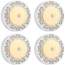 InLife Pack de 4 Luces con Sensor de Movimiento, Luz LED de Noche con USB Recargable, Fijar en Cualquier Lugar, Armario, Garaje, Baño, Cocina, con Almohadillas Adhesivas, Blanco Cálido