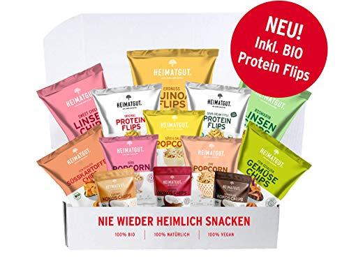 Heimatgut Probierset (13 x Bio-Snacks zum rundum Verlieben auf den ersten Crunch!). Besser snacken in 100% Bio, 100% Vegan, 100% Natürlich (ohne Zusätze) (Snacks Bio-süßkartoffel)