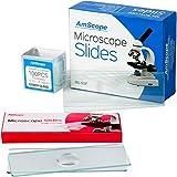 amscope bsc6–50p100s2250lames de microscope prénettoyés Plaque vierge et 6simple dépression concave Lames Plus 100coverslips