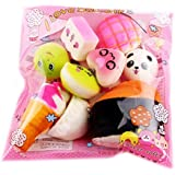 Colgantes para móviles, Squishys Panes mini kawaii Cute Squishies Toy Stress Relief Juguete Suave Slow Rising colorido suave perfumado Slow Rising Juguetes niños juguete regalo (15pcs)