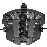 FAST AF Helm Zubehör - Schwarz Paintball Full Face Stahl Mesh schützende Sparta taktische Maske