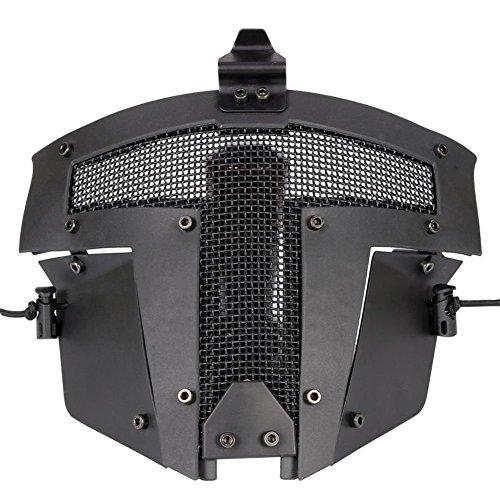 Fast AF Helm Zubehör - Schwarz Paintball Full Face Stahl Mesh schützende Sparta Taktische Maske -