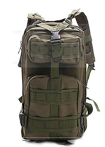 Outdoor bergsteigen Tasche Armee Ventilator Angriff bag camouflage Beutel multifunktionaler Rucksack outdoor Schulter Rucksack 50 * 38 * 28 cm, Army green Armee Grün