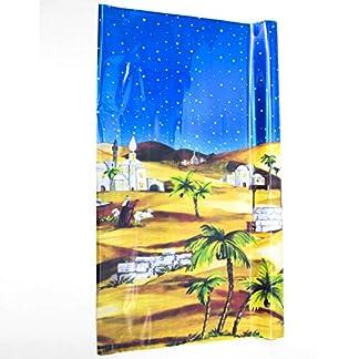 Gerimport Fondo para el Belén Desierto con Noche Estrellada