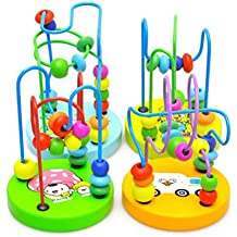 PIXNOR Rompecabezas Laberinto del Grano Puzzles de Madera Juguete Educativo para Bebé