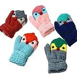 ChildGlove 2018 Winterhandschuhe für Kinder, Kinderkinder Handschuhe Handschuhe Winter niedlichen Cartoon doppelt Dicke warme Strickhalfter Seil, blau, Größe