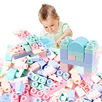 40 Pieces Colourful Kids Soft Silicone Building Blocks Bricks Construction Toy