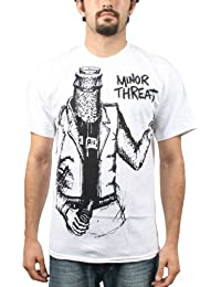 Minor Threat - Bottleman Mens S/S T-Shirt in White