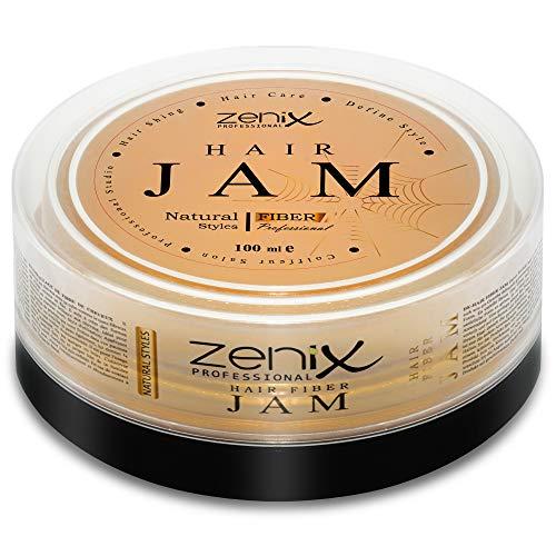 ZENIX Hair Jam - Haarwachs - Extra Langer Halt - Leichtes Modellieren - Für Feuchtes und Trockenes Haar - Natural Look - Mit Frischekick Durch Zitrusextrakt