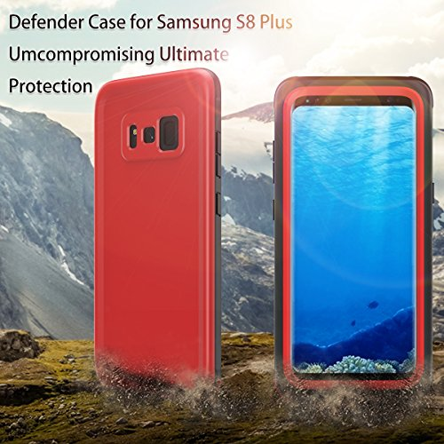 zukabmw Samsung Galaxy S8 Plus Snowproof Hülle, wasserdicht Hülle zum Samsung Galaxy S8 Plus,Serie Hülle, Dust Proof Snow Proof stoßfest Heavy Duty schlank Schutz Hülle Hülle zum