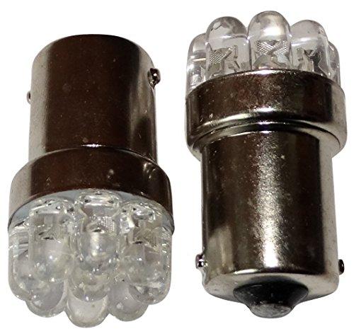 AERZETIX: 2X Ampoule 24V P21W R10W R5W 9LED Blanc pour Camion Semi-remorque Porte de Garage Portail