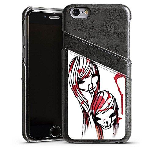 Apple iPhone 5 Housse Étui Silicone Coque Protection DeadHoxtonGirls Gloria saignant Étui en cuir gris