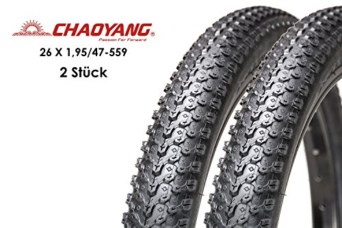 "CHAOYANG 2 Stück 26\"" Zoll Fahrrad Reifen MTB Mountainbike Mantel 26x1,95 Decke 47-559 Bike Tire"