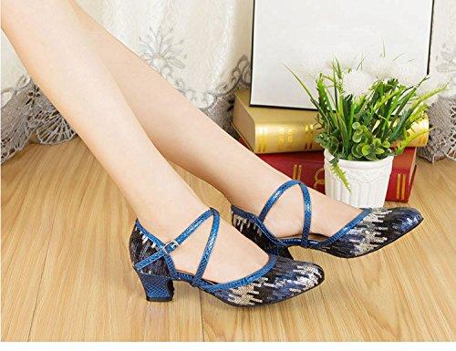 Miyoopark , Salle de bal femme Black/Blue-5cm heel
