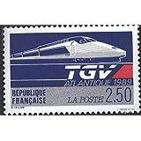Francia 2743 (completa.edición.) 1989 TGV Streckeneröffnung (sellos para los coleccionistas) vehículos sobre raíles
