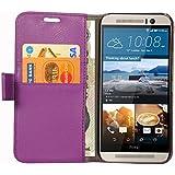 Spider HTC One M9 Flip Cover Slim Fit Case Cover Sparkle Flip Cover for HTC One M9 (Purple