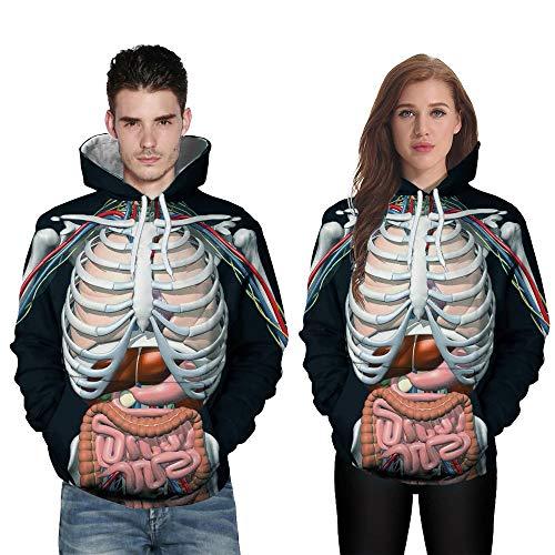 Hoodie Langarm Pullover Mantel Tops,Männer Frauen Mode 3D Print Langarm Halloween Paare Hoodies Top Bluse - Spider Mann Paare Kostüm