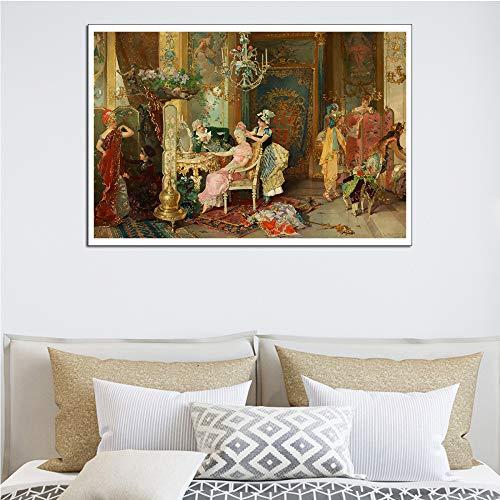 baodanla Nessuna Cornice Modern Wall Artist Residence Pittura Decorativa A1 50X70CM