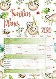 Familienplaner XL Familienkalender Familientimer Family Timer 2020 DIN A3 Wandkalender Kalender Familie 5 Spalten (Faultier)