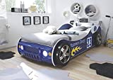 Wohnorama 90x200 Autobett inkl Beleuchtung Energy von Pol-Power Blau Glanz by