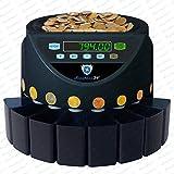 Münzzähler Münzzählmaschine Münzsortierer Geldzählmaschine SR1200 von Securina24 (Schwarz - Blacklabel - BBB)